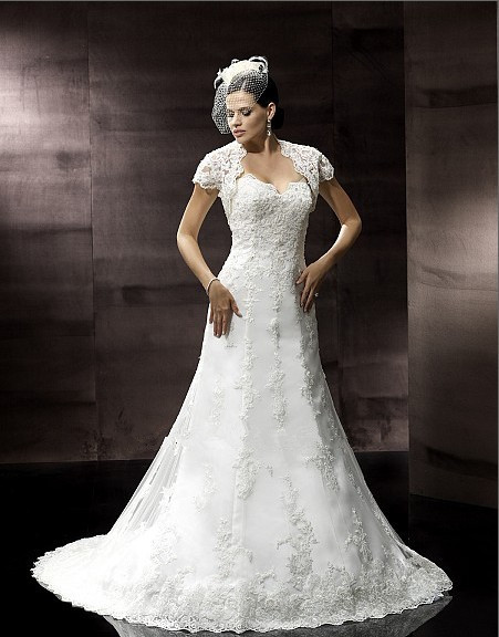 Free Shipping Vestido De Noiva 2018 New Sweetheart Abendkleider Appliques Bridal Gown Lace Jacket Mother Of The Bride Dresses