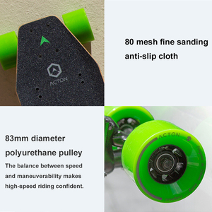Xiaomi ACTON Smart Electric Skateboard Wireless Remote Control 36V 500W E-scooter Omnidirectional LED Light Group 12KM Endurance
