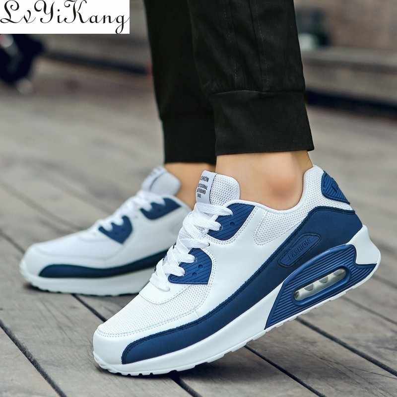 New Hot Sale 2019 Men Spring Fall Popular High Quality Fashion Casual Shoes Light Sneakers Man Lace-up Breathabledrop Shipping
