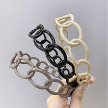 Hairbands Candy-Color Non-Slip Hair-Hoop Hair-Accessories Hollow-Chain Plastic Women