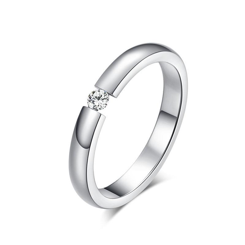 Stylish Silver Ring Mens Ladies Womens Wedding Engagement Modern Jewellery NEW