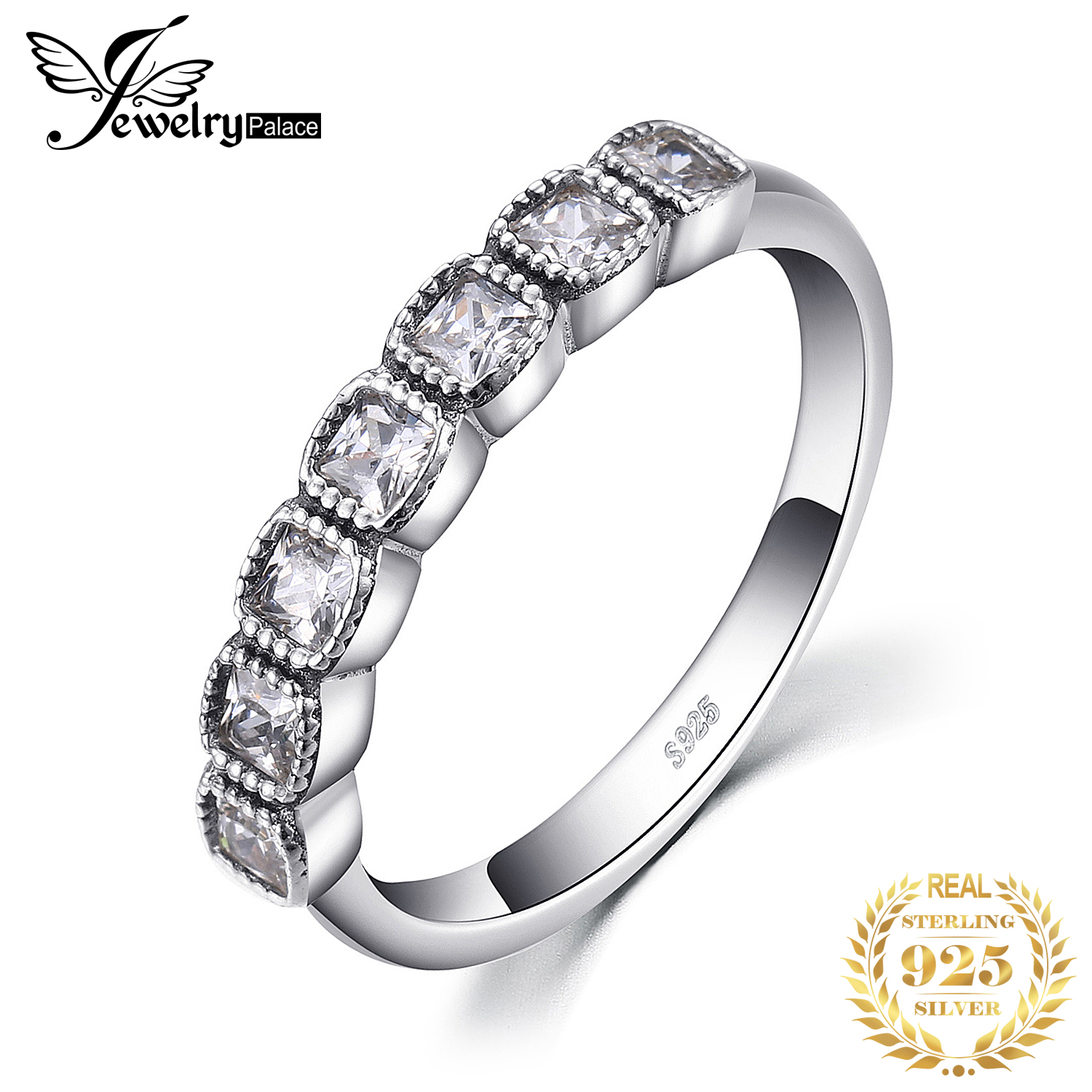 Jewelrypalace 925 Sterling Silver Brilliant Cut Princess Ring Gift Rings For Women/Grils Wedding Jewelry Rings New Design 2018