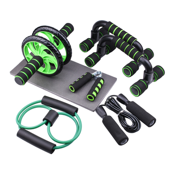 Resistance Bands Push-up Bar AB Power Wheels Roller Machine Jump Rope Exercise Workout Home Gym Fitness Abdominal Muscle Trainer 9