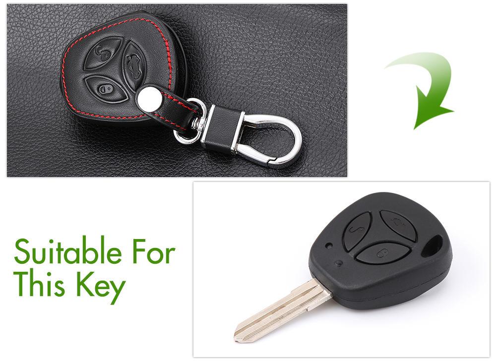 Автомобильный складной кожаный чехол для ключей для LADA Sedan Largus Kalina Granta Vesta X-Ray XRay брелок-чехол для дистанционного ключа защитный набор - Название цвета: A Style