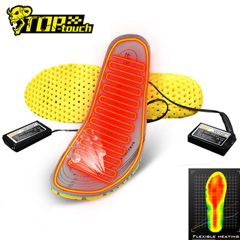 Motorcycle Shoes Heated Insoles Keep Warm USB Battery Powered Moto Boots Electric Heating Winter Thermal