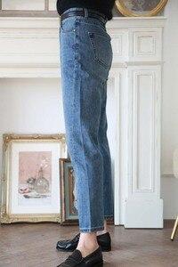 Image 4 - Jeans delle donne Asimmetrico Cut Vintage Etero Nove punti dei jeans donna Jeans Pantaloni