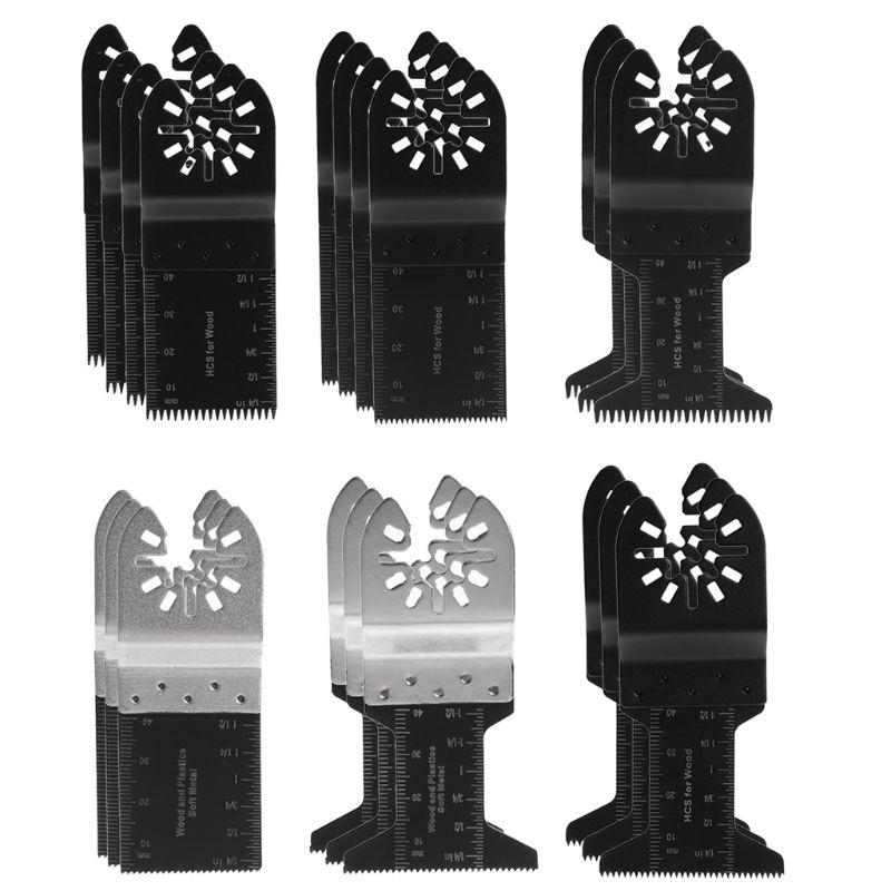 Drop Shipping 20Pcs/1 Set  Oscillating Multi Tool Saw Blades Set Quick Release For Bosch Makita Dremel 90mm