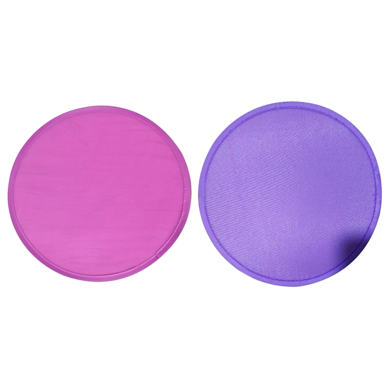 2 Pcs Foldable Round Fan Portable Easy To Use And Take Up No Space, 1 Pcs Purple & 1 Pcs Rose Red