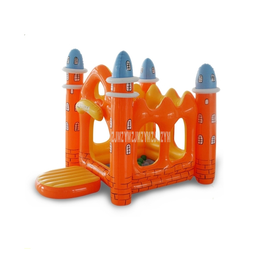 Indoor Inflatable Trampoline Mini Amusement Park For Baby Kids Gifts Play House Equipment Naughty Castle Imported PVC Material