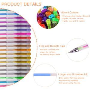 Image 2 - 100สีปากกาเจลปากกาBack To School 0.5Mm GlitterปากกาสำหรับเขียนHighlighters Kawaiiโรงเรียนชุดอุปกรณ์