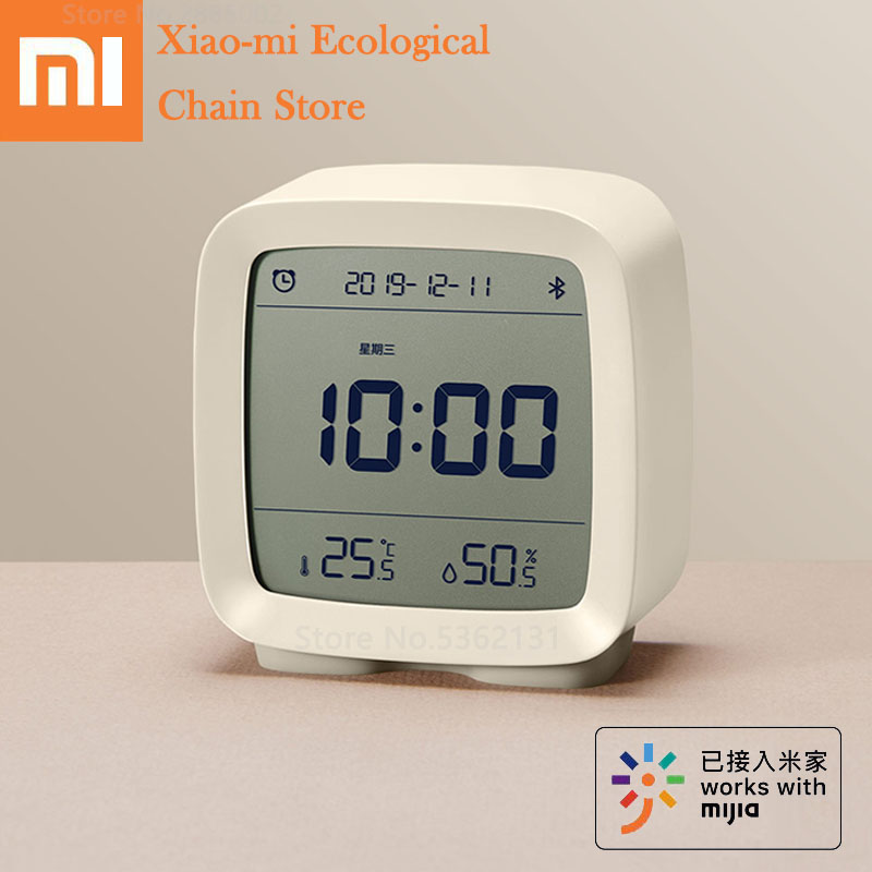 Xiaomi ClearGrass 3in1 Bluetooth Digital Thermometer Humidity Monitoring Alarm Clock Night Light Work With Mijia App Smart Home image