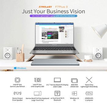 """Teclast F7 Plus 3 Laptop 14.1"""" 1920 x 1080 8GB RAM 256GB SSD Intel Gemini Lake N4120 Windows 10 Dual-band Wi-Fi Notebook USB 3.0 2"""