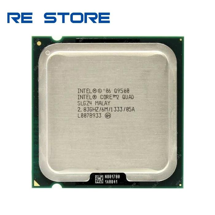 Процессор Intel Core2 Quad Q9500, 2,83 ГГц, 6 Мб кэш-памяти, FSB 1333, настольный процессор LGA 775