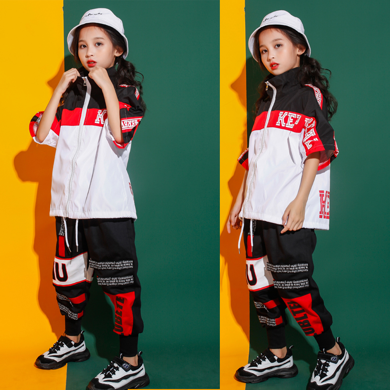 Girls Jazz Modern Dancing Costumes Clothing Suits Kids Boys Children's Hip Hop Dance Wear Outfits Stage Costumes Clothes Outfits