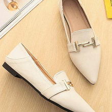 Boat Shoes Flats Loafers Slip-On Pointed-Toe Spring Women Ladies AB044 Shallow Black
