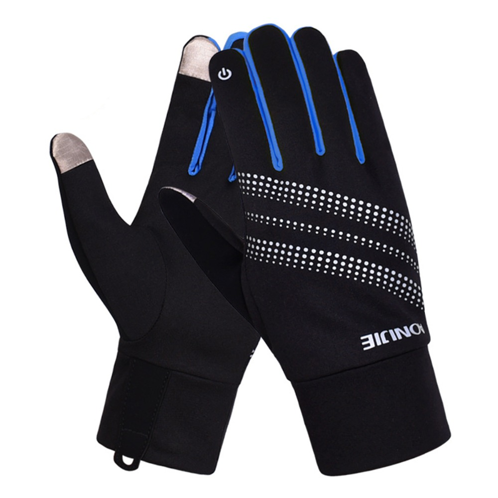 AONIJIE Men Women Skiing Gloves Winter Warm Windproof Cycling Running Hiking Motorcycle Full Finger Gloves Outdoor Sports