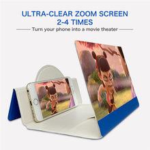 5d amplificador de tela de vídeo dobrável tela do telefone lupa suporte de smartphone hd suporte ampliar suporte proteção dos olhos