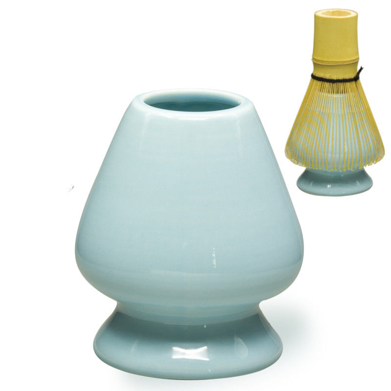 [GRANDNESS] Japanese Ceremony Porcelain Matcha Whisk Stand Holder Chasen Kusenaoshi Chasen Matcha Tea Accessories