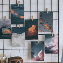 30pcs Moon Rise Cloud Photography Postcard Writable Decoration Cards Journal Wall Sticker Photo Props Greeting Paper Stationery