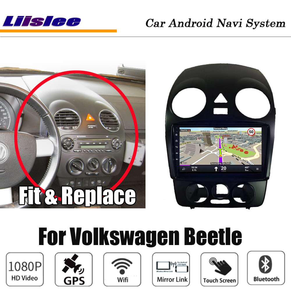 Car Multimedia Player For Volkswagen Vw Beetle 2000 Radio Android Stereo Media HD Screen Map GPS Navigation System