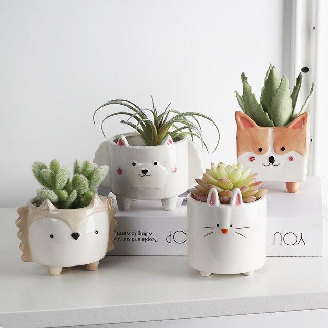 Ceramic flower pot Cartoon Animal plant macetas balcony decorations vaso suculenta planter vertical garden pots cute flowerpot