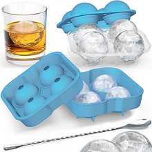 цена Ice Cube Silicone Mold Shape Whiskey Ice Ball Maker Round Ice Cube Mold Ball Ice Cube Mold for DIY Ice Cube Tools онлайн в 2017 году