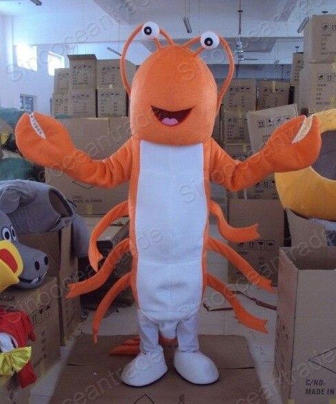 Usine vente directe classique ORANGE homard poupée mascotte Costume adulte Halloween fête d'anniversaire dessin animé vêtements Cosplay Costumes