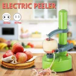 110 V/220 V ירקות קולפן פירות מכונה לקילוף תפוח אדמה נירוסטה משולב אוטומטי חשמלי מסתובב קילוף חותך כלי