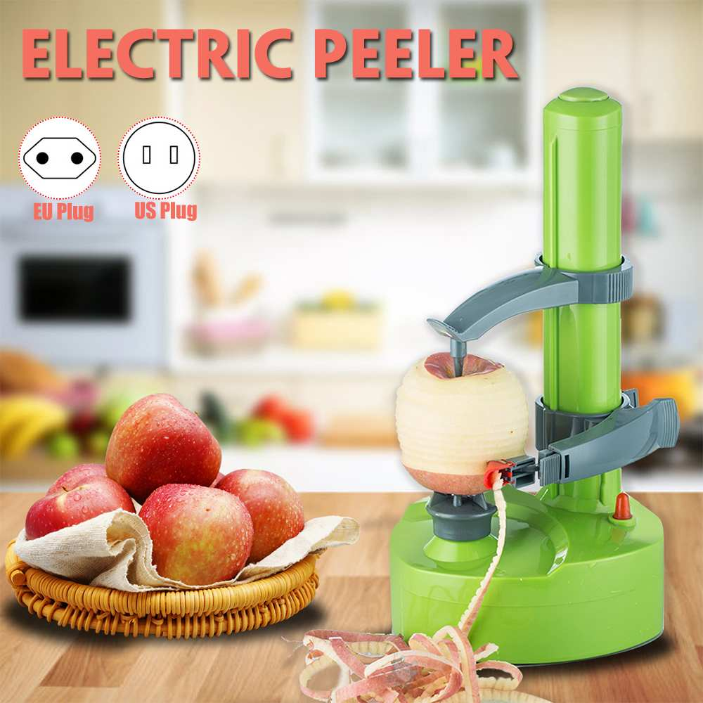 110V/220V Vegetable Peeler Fruit Potato Peeling Machine Stainless Steel Multifunction Auto Electric Rotating Cutter Paring Tool