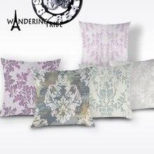 Funda floral para cojín planta de estilo nórdico Vintage funda de almohada sofá decorativo Retro fundas de cojines para cama fundas de almohada personalizadas Kissen