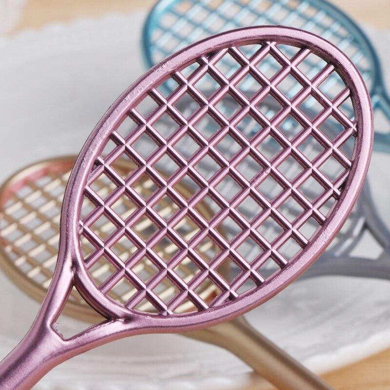 Резиновый слизистый Пластилин мини бадминтон ракетка слизь форма Кристалл Комплект для почвы играть с слайм гелевая ручка