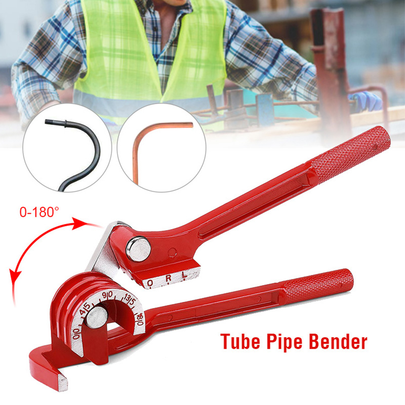 Rantion Pipe Tube Bender 0-180 Degree 6/8/10mm Copper Tube Benders Manual Elbow Tool Curving Pliers Hose Brake Fuel Line Plier