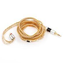 Tripowin Zonie 16 Core כסף מצופה כבל SPC אוזניות כבל QDC MMCX 2 פין עבור KZ ZS10 פרו C16 C12 BL03