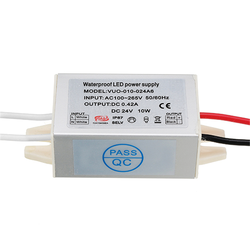CLAITE DC12V DC24V 10W Waterproof Aluminum Mini Power Supply LED Driver Switching Adapter Charger Transformer for LED Strip