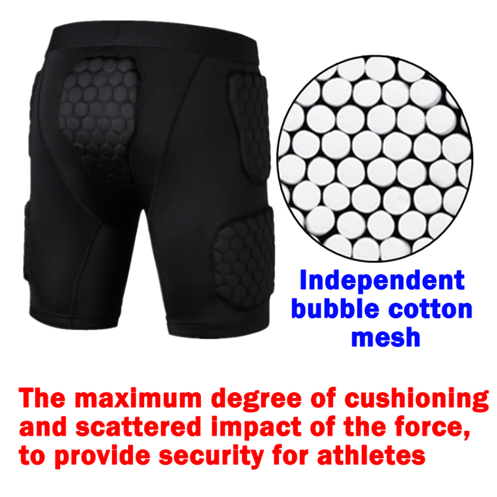 Купить с кэшбэком Anti-collision Quick Dry Training  Short basketball Shorts jersey College Throwback Football Jerseys Body Protection Men