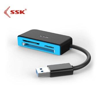 SSK All in 1 czytnik kart USB3 0 dla SD TF karta CF 5 gb s superszybka inteligentna karta pamięci Flash czytnik SCRM330 tanie i dobre opinie Zewnętrzny CN (pochodzenie) All in 1 multi w 1 Karty SD Micro SD