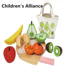 Wooden classic game simulation kitchen series toys Cutting Fruit and Vegetable Toys Montessori Early education gifts