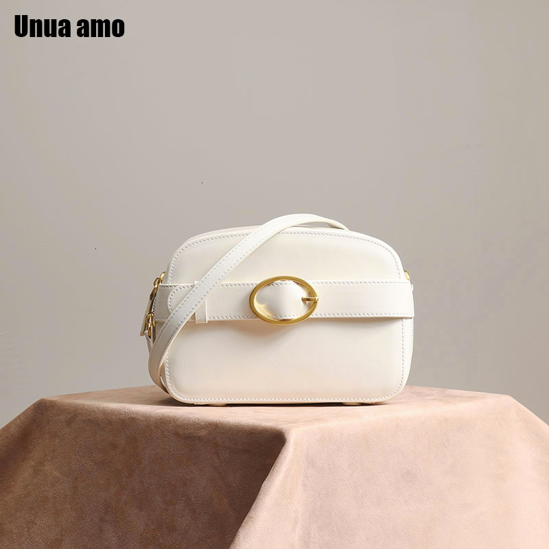 Unua amo 2019 sac à bandoulière en cuir véritable femmes mode caméra petit sac carré décontracté dames sacs à bandoulière