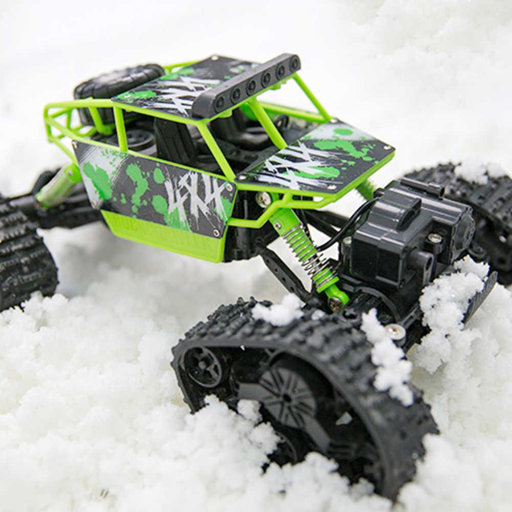 1/18 2WD alta velocidad RC todoterreno rastreador de escalada coche vehículo nieve pista niños juguete de goma Oversize neumáticos redondos y neumáticos de pista de juguete