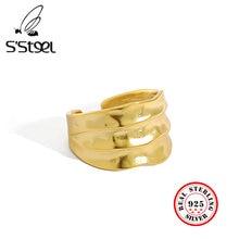 S'steel кольца оригинальной формы из стерлингового серебра