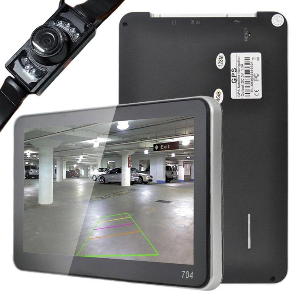 Nowy profesjonalny 7 ''samochodowy gps do ciężarówek nawigacji mapa usa z bezprzewodowym kamera cofania Bluetooth 4GB dla samochodów samochód stylizacji Hot