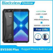 Blackview nowy BV5500 Plus 3GB + 32GB Android 10 0 IP68 wodoodporny wytrzymały smartfon 5 5 #8221 pełny ekran 4400mAh 4G telefon komórkowy tanie tanio Nie odpinany CN (pochodzenie) Rozpoznawania twarzy Inne Nonsupport Smartfony Szkło Gorilla Pojemnościowy ekran Angielski