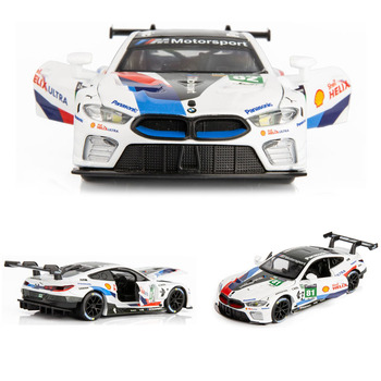 1:32  BMW-M8 Car Model Alloy Car Die Cast Toy Car Model Pull Back Children's Toy Collectibles Free Shipping 1set j261 stainless steel sheet model car with 4 n20 gear motor diy model car chassis frame free shipping russia australia