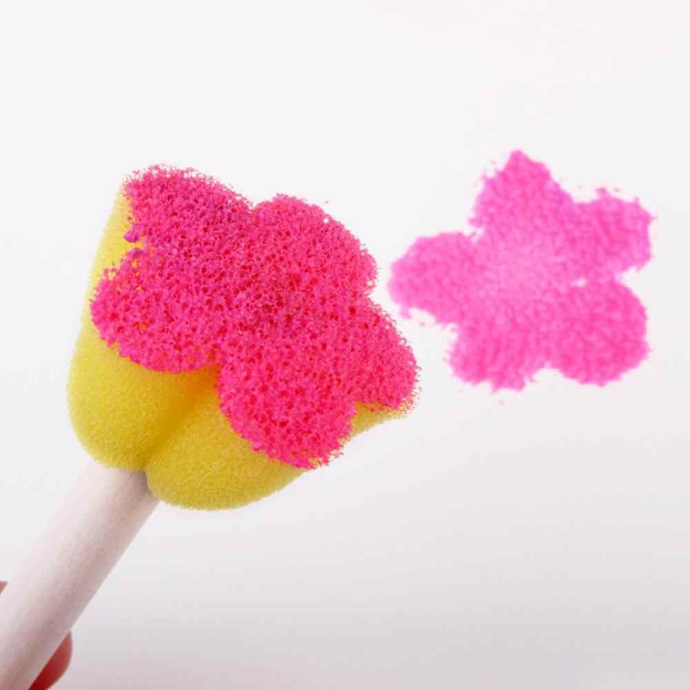 Spons Seal 5 Buah/Set 5 Warna Mini Bunga Spons Segel Plum Blossom Bentuk Lukisan Sikat R60