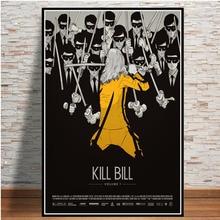 Póster e impresiones caliente Kill Bill Pulp Fiction película Vintage pintura arte cuadros de pared para la decoración de la colección del hogar de la sala de estar