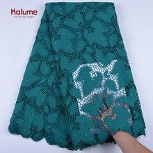 Wysokiej jakości koronki afryki przewód gipiury koronki tkaniny ostatnie nigerii francuski sieci kabel koronki tkanina wyszywana kamieniami do sukni F1668