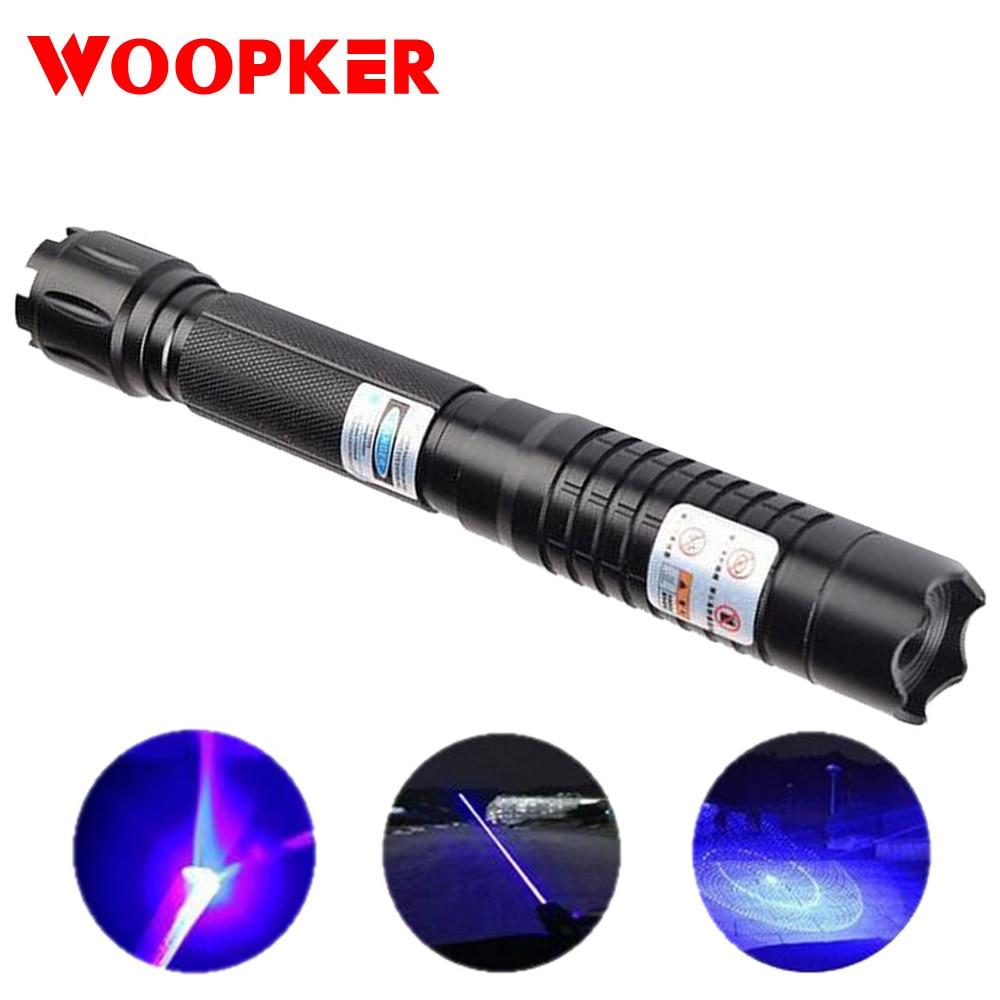 High Power Blue Laser Pointer Torch 445nm 10000m Focusable Lazer Sight Point Flashlight Burn Match Long Distance