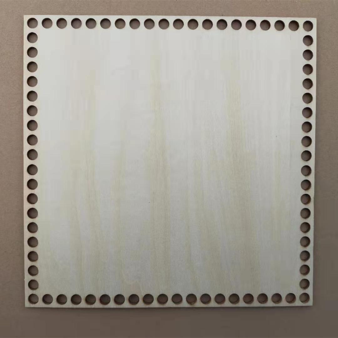 Горячая Распродажа квадратной формы ручной работы деревянный крючком база нижняя корзина «сделай сам» для дома украшения