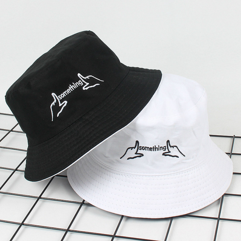 Panama Bucket Hat Men And Women Summer Bucket Hat Finger Letter Printing Yellow Hat Bob Hat Hip Hop Goros Fishing Fisherman Hat