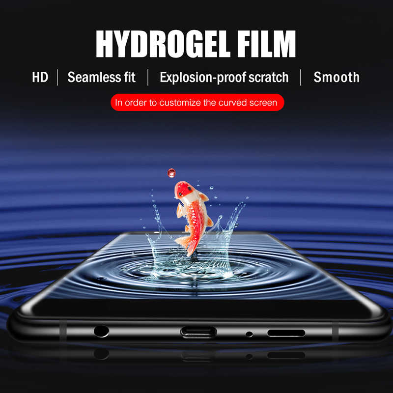2 adet 900D ekran koruyucu için Samsung Galaxy S10 S9 S8 artı A50 tam kapak hidrojel Film Samsung not için 10 9 8 Film değil cam